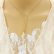 Недорогие $0.99 Модное ювелирное украшение-Жен. Синтетический алмаз Слоистые ожерелья - В форме листа Уникальный дизайн, Euramerican Золотой, Серебряный Ожерелье Бижутерия Назначение Для вечеринок, Повседневные