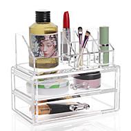 złożona kombinacja dużej pojemności 3 warstwy pędzel do makijażu szuflada do przechowywania kosmetyczka organizer box 2 szt. zestaw