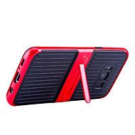 Недорогие Чехлы и кейсы для Galaxy S8-Кейс для Назначение SSamsung Galaxy S8 Plus S8 со стендом Кейс на заднюю панель Сплошной цвет Твердый Углеродное волокно для S8 Plus S8