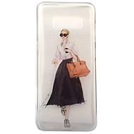 Недорогие Чехлы и кейсы для Galaxy S8-Кейс для Назначение SSamsung Galaxy S8 Plus S8 IMD Прозрачный С узором Кейс на заднюю панель Соблазнительная девушка Мягкий ТПУ для S8