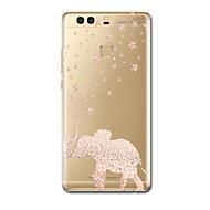お買い得  携帯電話ケース-ケース 用途 Huawei社P9 / Huawei社P9ライト / Huawei社P8 超薄型 / パターン バックカバー 象 ソフト TPU のために P10 Lite / P10 / Huawei P9 Plus