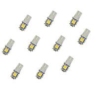 Недорогие Сигнальные огни для авто-10 шт. T10 Автомобиль Лампы 0.8 W SMD 5050 55 lm Светодиодная лампа Лампа поворотного сигнала For Универсальный