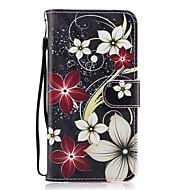 Varten Lomapkko Korttikotelo Tuella Flip Kuvio Etui Kokonaan peittävä Etui Kukka Kova Tekonahka varten HuaweiHuawei P9 Lite Huawei P8