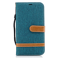 tok Για Samsung Galaxy J5 (2016) J3 (2016) Θήκη καρτών Πορτοφόλι με βάση στήριξης Ανοιγόμενη Πλήρης κάλυψη Γραμμές / Κύματα Σκληρή Ύφασμα