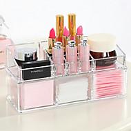 abordables Almacenamiento de escritorio-Complejo combinado de gran capacidad de 2 capas de maquillaje cepillo maceta soporte cosmético organizador caja 2 unid conjunto