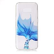 halpa Galaxy S7 Edge kotelot / kuoret-Etui Käyttötarkoitus Samsung Galaxy S8 Plus S8 Läpinäkyvä Koristeltu Kuvio Takakuori Lace Printing Pehmeä TPU varten S8 S8 Plus S7 edge S7
