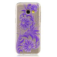 Недорогие Чехлы и кейсы для Galaxy A7(2017)-Кейс для Назначение SSamsung Galaxy A5(2017) A3(2017) IMD Прозрачный Кейс на заднюю панель Цветы Мягкий ТПУ для A3 (2017) A5 (2017) A7