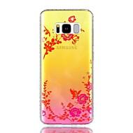 Для Чехлы панели Стразы IMD Полупрозрачный С узором Задняя крышка Кейс для Цветы Бабочка Твердый PC для Samsung S8 S8 Plus S7 edge S7