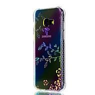 Недорогие Чехлы и кейсы для Galaxy A5(2017)-Кейс для Назначение SSamsung Galaxy A5(2017) A3(2017) Защита от удара Покрытие Полупрозрачный С узором Кейс на заднюю панель Цветы Мягкий
