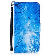 Недорогие Кейсы для iPhone 8-Кейс для Назначение Apple iPhone 8 iPhone 8 Plus Бумажник для карт Кошелек со стендом Флип Магнитный С узором Чехол дерево Твердый Кожа PU