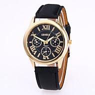 Недорогие Женские часы-Жен. Модные часы Китайский Кварцевый Повседневные часы Кожа Группа Кулоны На каждый день Черный Белый Красный Коричневый Зеленый Розовый