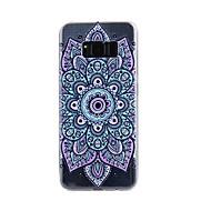 voordelige Galaxy S5 Hoesjes / covers-hoesje Voor Samsung Galaxy S8 Plus S8 Transparant Reliëfopdruk Patroon Achterkantje Mandala Zacht TPU voor S8 S8 Plus S7 edge S7 S5