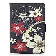 For Apple iPad Mini 4 3 2 1 Case Cover Flower Pattern Painted Card Stent Wallet PU Skin Material Flat Protective Shell