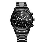 ieftine Oferte Zilnice-Bărbați Ceas La Modă Ceas Elegant Japoneză Quartz 30 m Calendar Ceas Casual Aliaj Bandă Analog Casual Negru - Negru Un an Durată de Viaţă Baterie