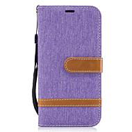 Недорогие Чехлы и кейсы для Galaxy A5(2017)-Кейс для Назначение SSamsung Galaxy A5(2017) A3(2017) Бумажник для карт Кошелек со стендом Флип Чехол Полосы / волосы Твердый текстильный
