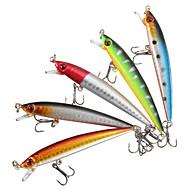 5 pcs ルアー ハードベイト ミノウ ルアーパック 硬質プラスチック プラスチック フローティング シンキング 海釣り ベイトキャスティング スピニング / 川釣り / バス釣り / ルアー釣り / 流し釣り / 船釣り