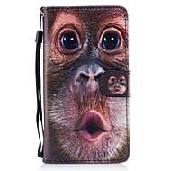 voordelige Galaxy J5 Hoesjes / covers-hoesje Voor Samsung Galaxy J5 (2016) Kaarthouder Portemonnee met standaard Flip Magnetisch Patroon Volledig hoesje dier Hard PU-nahka voor