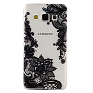 olcso Galaxy A tokok-Case Kompatibilitás Samsung Galaxy A5(2017) A3(2017) Átlátszó Minta Dombornyomott Fekete tok csipke nyomtatás Puha TPU mert A3 (2017) A5