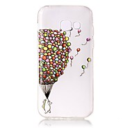voordelige Galaxy A-serie hoesjes / covers-hoesje Voor Samsung Galaxy A5(2017) A3(2017) Transparant Patroon Reliëfopdruk Achterkant Balloon Zacht TPU voor A3 (2017) A5 (2017)