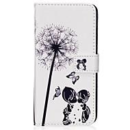 Недорогие Чехлы и кейсы для Galaxy S6 Edge Plus-Кейс для Назначение SSamsung Galaxy S8 Plus S8 Бумажник для карт Кошелек со стендом Флип Магнитный С узором Чехол одуванчик Твердый Кожа
