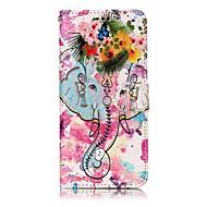 Etui Käyttötarkoitus Samsung Galaxy S8 Plus S8 Lomapkko Korttikotelo Tuella Flip Kuvio Magneetti Kokonaan peittävä Elefantti Kova PU-nahka