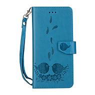 Недорогие Чехлы и кейсы для Galaxy S8 Plus-Кейс для Назначение SSamsung Galaxy S8 Plus S8 Бумажник для карт Кошелек со стендом Флип Магнитный С узором Чехол  Перья Мультипликация