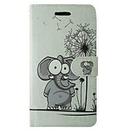 tok Για Samsung Galaxy A5(2017) A3(2017) Πορτοφόλι Θήκη καρτών με βάση στήριξης Ανοιγόμενη Πλήρης κάλυψη Πικραλίδα Ελέφαντας Ζώο