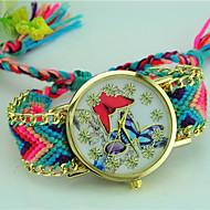 voordelige Bohémien horloges-Dames Armbandhorloge Kwarts Stof Band Vlinder Bohémien Meerkleurig