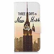 Недорогие Чехлы и кейсы для Galaxy A3(2017)-Кейс для Назначение SSamsung Galaxy A5(2017) A3(2017) Кошелек Бумажник для карт со стендом Флип С узором Чехол Эйфелева башня Твердый
