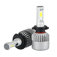 cheap -2pcs H7 Car Light Bulbs 36W/pcs*2 W COB 3600 lm LED Headlamp For