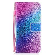 Для samsung galaxy s8 s8 плюс чехол покрытие мрамор радуга песок узор окрашенный pu кожа материал карта стент кошелек телефон корпус s7 s7