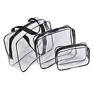abordables Accesorios de Viaje-3 Piezas Totes & Bags cosméticos Impermeable Resistente a la lluvia A prueba de polvo Suave Rectangular Quitaesmalte Crema de Manos
