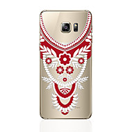 olcso Galaxy S4 tokok-Case Kompatibilitás Samsung Galaxy S8 Plus S8 Átlátszó Minta Fekete tok csipke nyomtatás Puha TPU mert S8 Plus S8 S7 edge S7 S6 edge plus