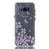 Для samsung galaxy s8 s8 плюс чехол для крышки бабочка узор окрашенный материал tpu светящийся корпус телефона s7 s7edge