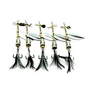 olcso Fishing & Hunting-5 db Kemény csali Műlégy Kanalak Fém csali g/Uncia mm hüvelykTengeri halászat Csalidobó Sodort Pergető horgászat Csali horgászat