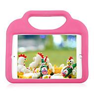 Voor apple ipad mini 4 3/2/1 schokbestendig met standaard kinderkluis achterkant behuizing vaste kleur zachte silicone