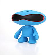 voordelige Luidsprekers-Mini Draagbaar LED-licht ondersteuning FM Bluetooth 3.0 3.5mm AUX Draadloze bluetooth speakers Lichtblauw