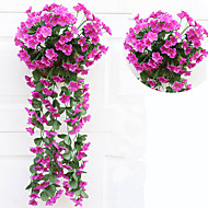 abordables Flores Artificiales-Flores Artificiales 1 Rama Estilo Pastoral Plantas Flor de Pared