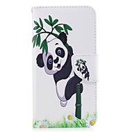 Для huawei p10 lite p8 lite (2017) телефон чехол pu кожаный материал панда бамбуковый узор окрашенный p10 p9 lite p9 y5 ii честь 6x
