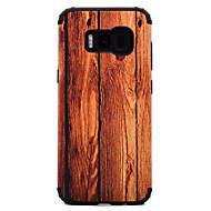 Кейс для Назначение SSamsung Galaxy S8 Plus S8 Защита от удара С узором Задняя крышка Имитация дерева Твердый PC для S8 S8 Plus S7 edge S7