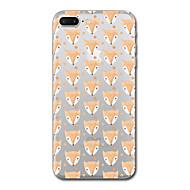Назначение iPhone X iPhone 8 Чехлы панели Прозрачный С узором Задняя крышка Кейс для Плитка Животное Мягкий Термопластик для Apple iPhone