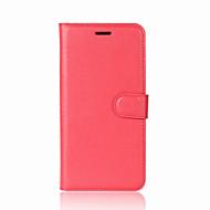 voordelige Mobiele telefoonhoesjes-hoesje Voor Huawei P9 Lite Huawei Kaarthouder Portemonnee met standaard Flip Volledig hoesje Effen Kleur Hard PU-nahka voor P10 Plus P10