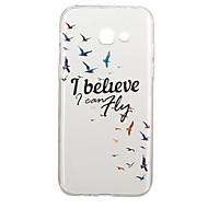 Недорогие Чехлы и кейсы для Galaxy A3(2017)-Кейс для Назначение SSamsung Galaxy A5(2017) A3(2017) С узором Кейс на заднюю панель Слова / выражения Животное Мягкий ТПУ для A3 (2017)