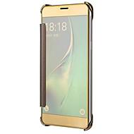 Etui Käyttötarkoitus Samsung Galaxy J7 Prime J5 Prime Pinnoitus Peili Flip Kokonaan peittävä Yhtenäinen väri Kova PC varten On7(2016)