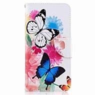 Για το huawei p10 plus p10 lite κάλυμμα κατόχου καρτών πορτοφολιού με στάση flip μοτίβο υπόθεση πλήρης υπόθεση σώματος πεταλούδα σκληρό pu