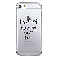 Na iPhone X iPhone 8 Etui Pokrowce Wzór Etui na tył Kılıf Napis Miękkie Poliuretan termoplastyczny na Apple iPhone X iPhone 8 Plus iPhone