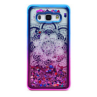 For Samsung Galaxy J5 (2016) J3 (2016) Case Cover Flowing Liquid Pattern Back Cover Case Glitter Shine Mandala Soft TPU for J3