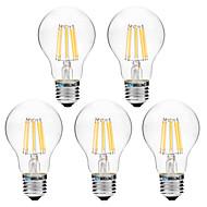 8W LED-hehkulamput A60(A19) 8 COB 600 lm Lämmin valkoinen Valkoinen V 5 kpl
