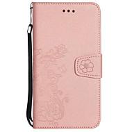 Недорогие Чехлы и кейсы для Galaxy S-Кейс для Назначение SSamsung Galaxy S8 Plus S8 Бумажник для карт Кошелек со стендом Флип Рельефный Чехол Цветы Твердый Кожа PU для S8