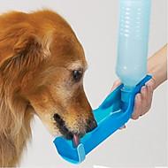 L Cat Dog Bowls & Water Bottles Pet Bowls & Feeding Waterproof Portable Red Blue Pink